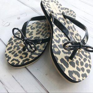 Kate Spade Nova Leopard Sandals Flip Flops
